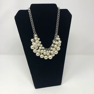 WHITE HOUSE BLACK MARKET Pearl  Statement Necklace